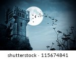 Halloween Castle With Moon ...