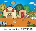 farm cartoon | Shutterstock . vector #115674967