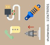 cable icons set. gadget ... | Shutterstock .eps vector #1156750501