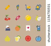 fruit vector icons set. ice... | Shutterstock .eps vector #1156750531