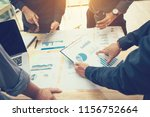 business people pointing graph... | Shutterstock . vector #1156752664