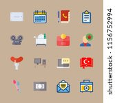 table icons set. intelligence ... | Shutterstock .eps vector #1156752994