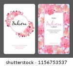 sakura flowers background... | Shutterstock .eps vector #1156753537