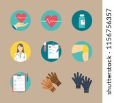 medical icons set. cure ... | Shutterstock .eps vector #1156756357