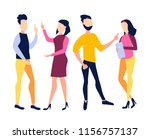 the concept of collaboration.... | Shutterstock .eps vector #1156757137