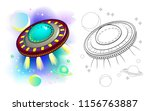 colorful and black and white... | Shutterstock .eps vector #1156763887