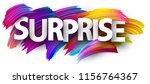 surprise poster with spectrum... | Shutterstock .eps vector #1156764367