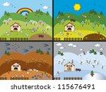 four seasons | Shutterstock . vector #115676491