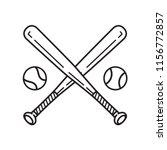 baseball vector icon logo... | Shutterstock .eps vector #1156772857