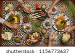 many different indonesian food... | Shutterstock . vector #1156773637