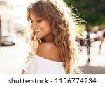 portrait of beautiful cute... | Shutterstock . vector #1156774234