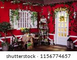 american style wooden house.... | Shutterstock . vector #1156774657