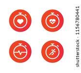 cardio icons set | Shutterstock .eps vector #1156780441