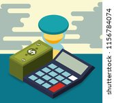 business calculator hourglass... | Shutterstock .eps vector #1156784074