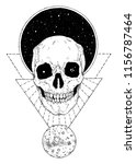 skull with space | Shutterstock .eps vector #1156787464