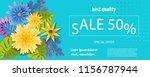 horizontal paper cut tropical... | Shutterstock .eps vector #1156787944