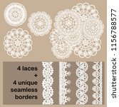 vector set of 4 delicate... | Shutterstock .eps vector #1156788577
