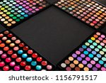 colorful eyeshadow palettes on... | Shutterstock . vector #1156791517