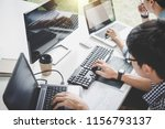 writing codes and typing data... | Shutterstock . vector #1156793137