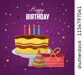 happy birthday card | Shutterstock .eps vector #1156797061