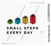 small steps every day... | Shutterstock .eps vector #1156800904