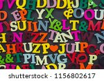 english alphabet background... | Shutterstock . vector #1156802617
