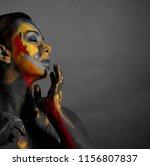 bodyart portrait of a girl | Shutterstock . vector #1156807837