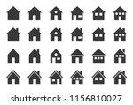 house icon  glyph design pixel... | Shutterstock .eps vector #1156810027