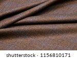 woolen suit fabric  cage brown... | Shutterstock . vector #1156810171
