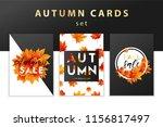 trendy and elegant autumn... | Shutterstock .eps vector #1156817497