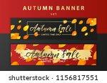 trendy and elegant autumn... | Shutterstock .eps vector #1156817551