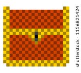 pixelated wooden chest icon   Shutterstock .eps vector #1156821424