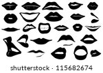 lips set isolated on white | Shutterstock .eps vector #115682674
