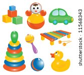 baby toy icon set. vector... | Shutterstock .eps vector #11568343