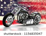 Custom Black Motorcycle With...