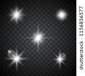 vector star and reflection... | Shutterstock .eps vector #1156836577