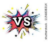versus letters or vs logo.... | Shutterstock .eps vector #1156838314