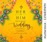 wedding invitation card... | Shutterstock .eps vector #1156839694