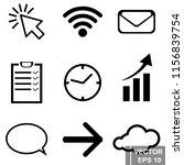 set of icons. black. social...