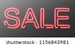 neon sale sign. vector... | Shutterstock .eps vector #1156843981
