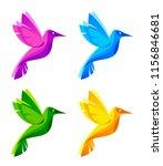 colorful little birds of... | Shutterstock .eps vector #1156846681