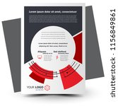 flyer brochure design geometric ... | Shutterstock .eps vector #1156849861