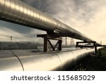 industrial pipelines on pipe... | Shutterstock . vector #115685029