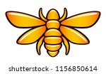 stylized orange bee on a white... | Shutterstock .eps vector #1156850614