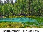 amazing blue geyser lake in... | Shutterstock . vector #1156851547