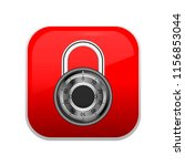 square red lock button  glass ...   Shutterstock .eps vector #1156853044