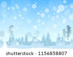 vector winter christmas...   Shutterstock .eps vector #1156858807