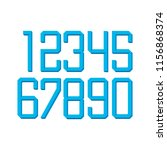 numbers in sports subjects | Shutterstock .eps vector #1156868374