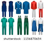 set of overalls with worker and ... | Shutterstock .eps vector #1156870654