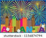 atlanta georgia city skyline... | Shutterstock .eps vector #1156874794